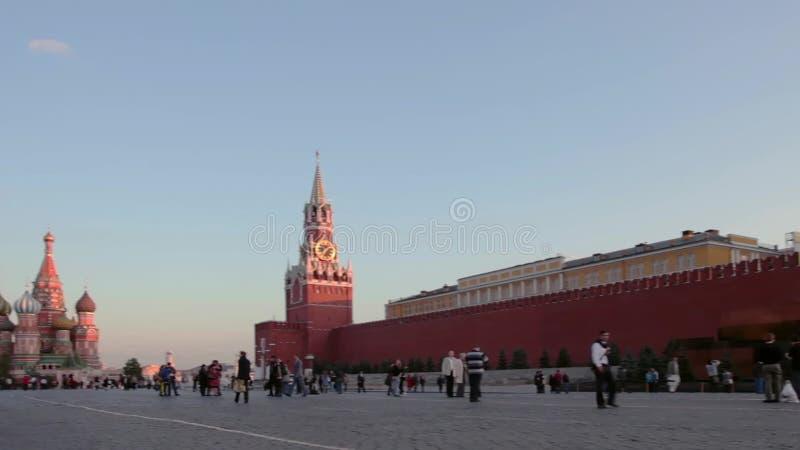Ноча Москвы Кремля панорамы, Россия видеоматериал