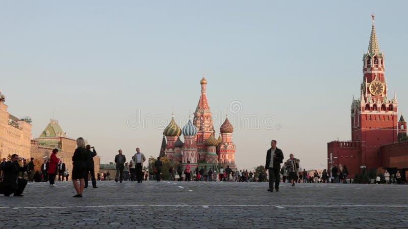 Ноча Москвы Кремля панорамы, Россия сток-видео
