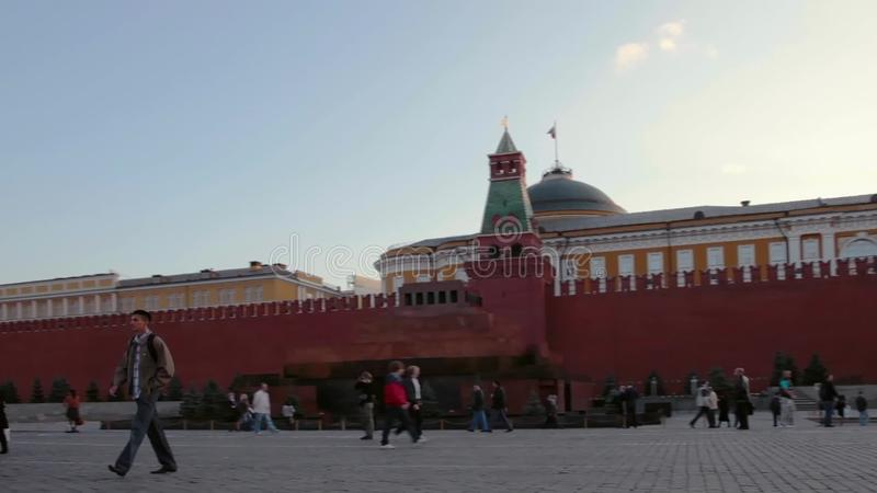 Ноча Москвы Кремля панорамы, Россия акции видеоматериалы