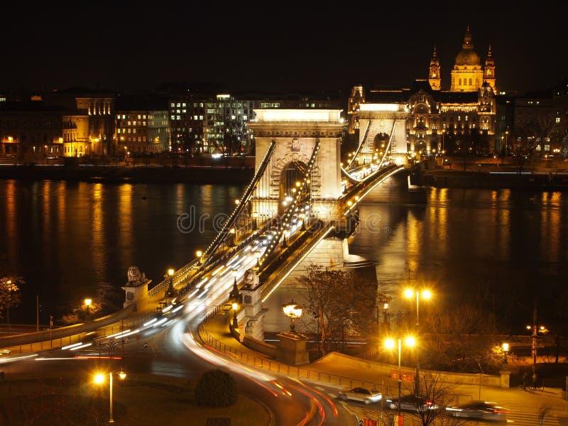 ноча моста цепная стоковые изображения rf
