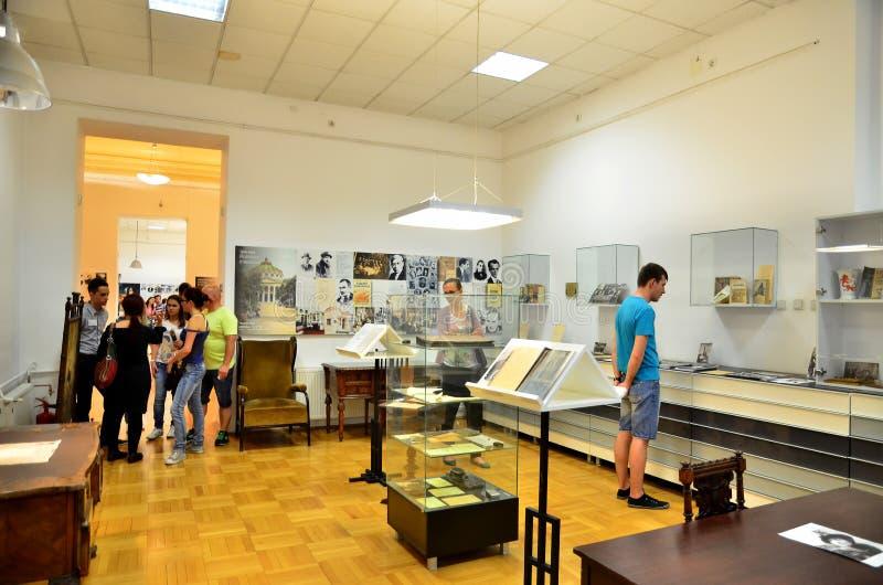 Ноча музеев в Бухаресте - Национальном музее румынской литературы стоковое фото