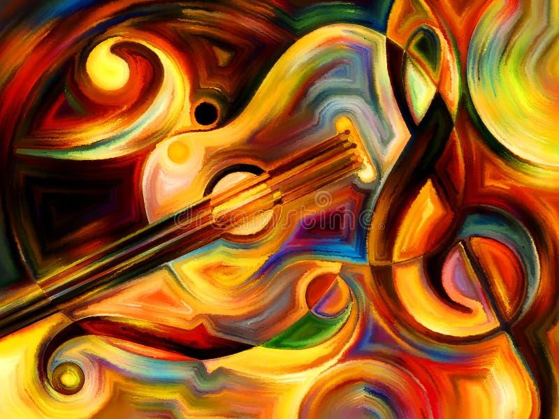 Ноча музыки иллюстрация вектора