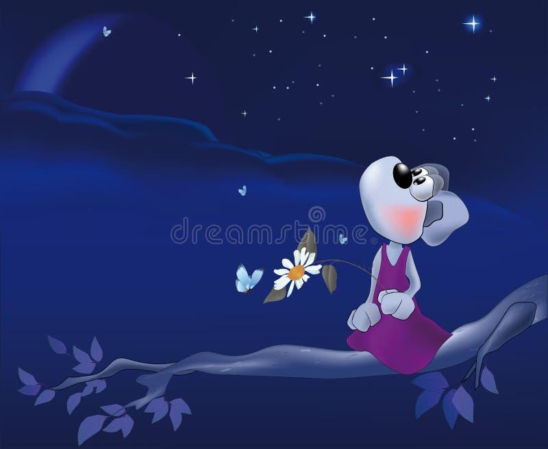 ноча мыши влюбленности стоцвета иллюстрация вектора