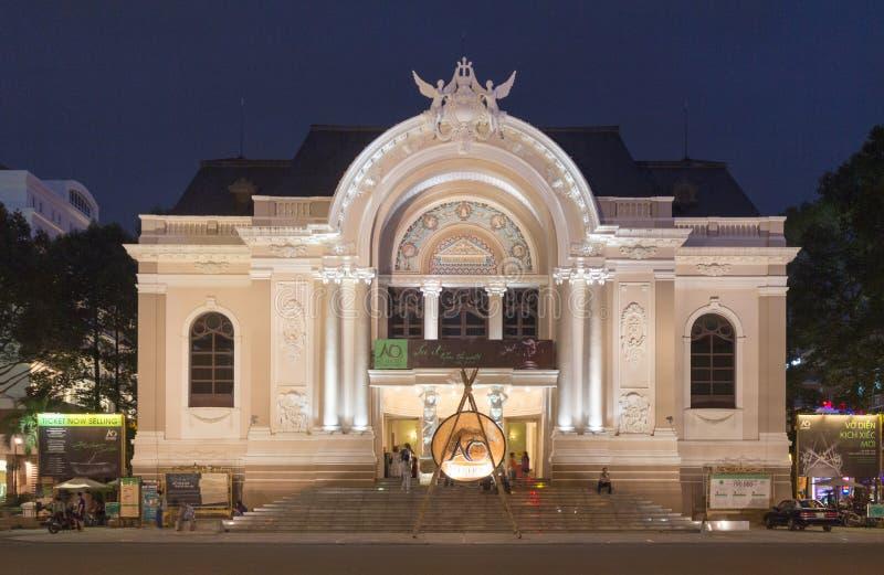 Ноча оперного театра стоковое изображение