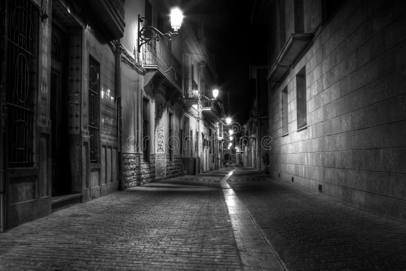 ноча переулка стоковая фотография rf