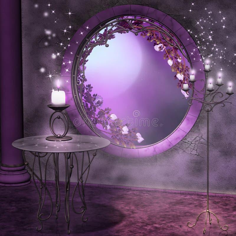 Ноча полнолуния бесплатная иллюстрация