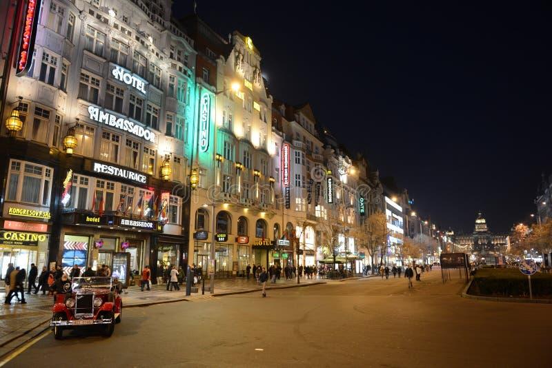 Ноча Прага стоковое фото rf