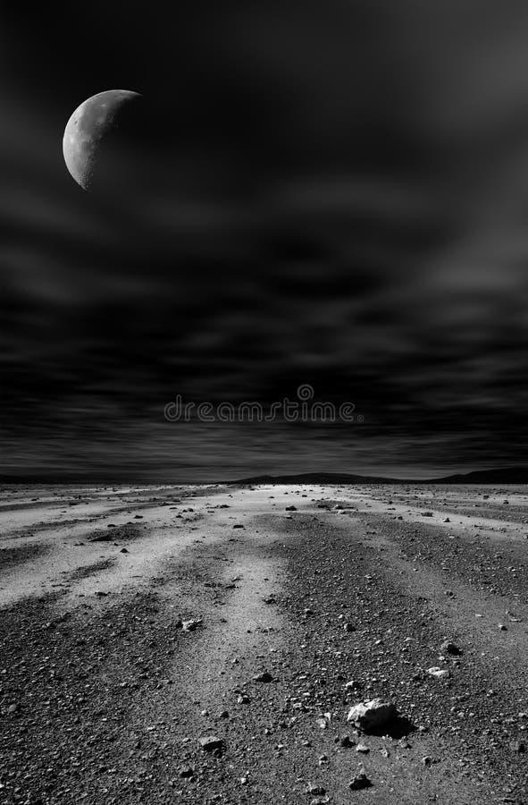 ноча пустыни каменистая стоковое фото