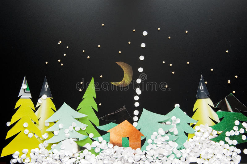 ноча пущи рождества стоковые изображения