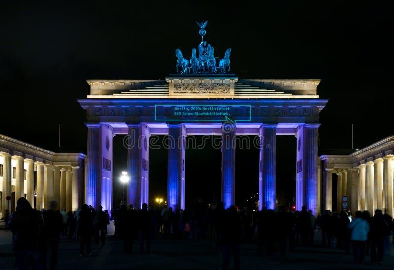 ноча строба brandenburg стоковые фото