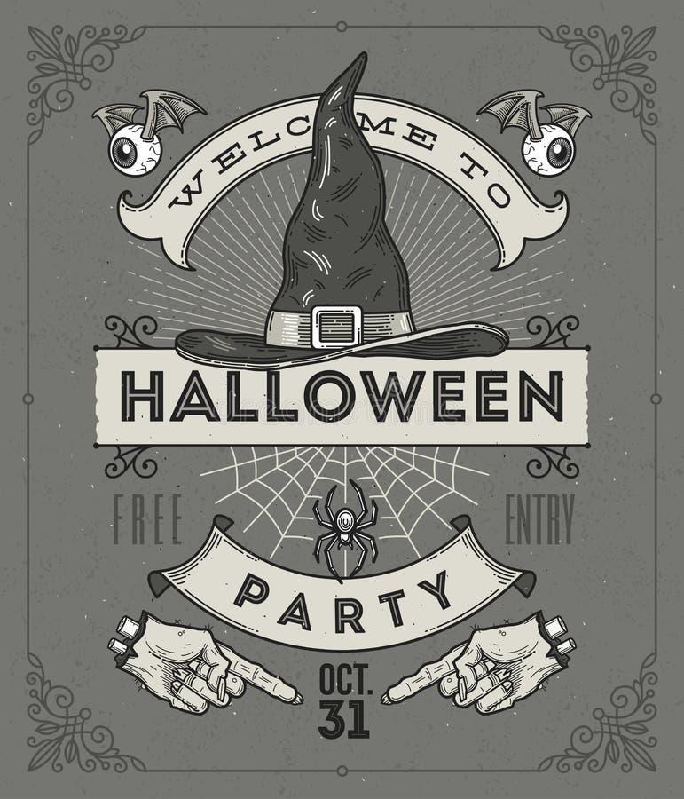 ноча луны иллюстрации halloween иллюстрация штока