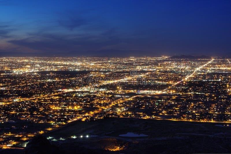 Ноча Феникса Аризоны стоковые фото
