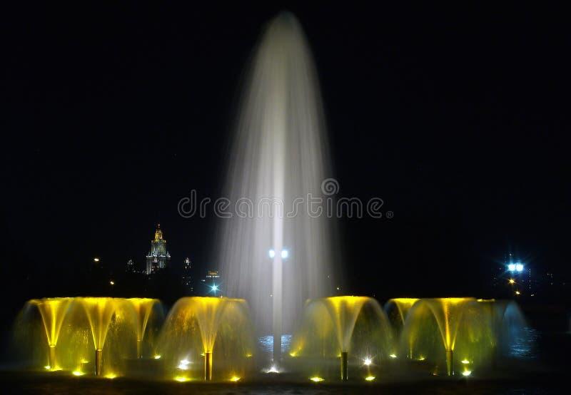 ноча фонтанов состава стоковые фото