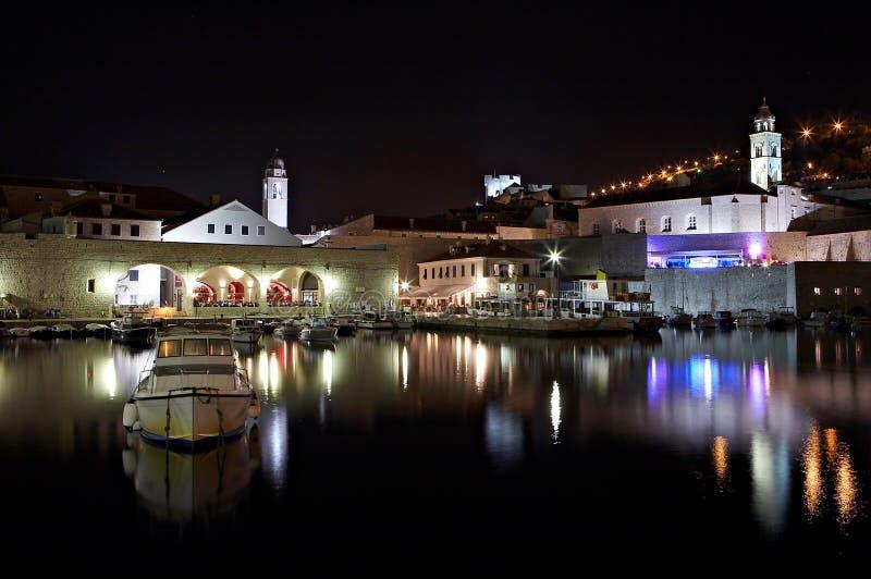 ноча Хорватии dubrovnik стоковое фото
