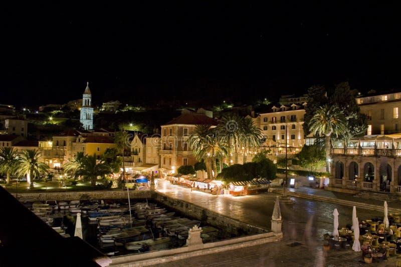ноча Хорватии hvar стоковое изображение rf