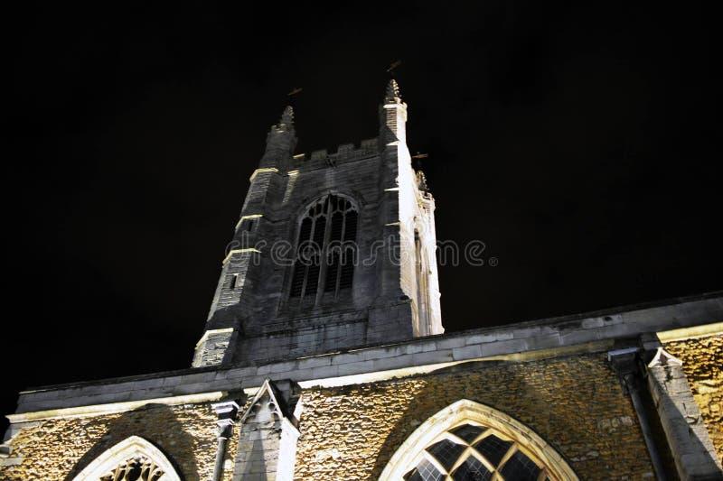 ноча церков стоковые фотографии rf