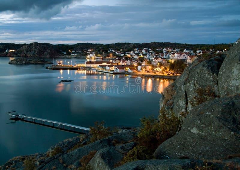 ноча Швеция стоковые изображения rf
