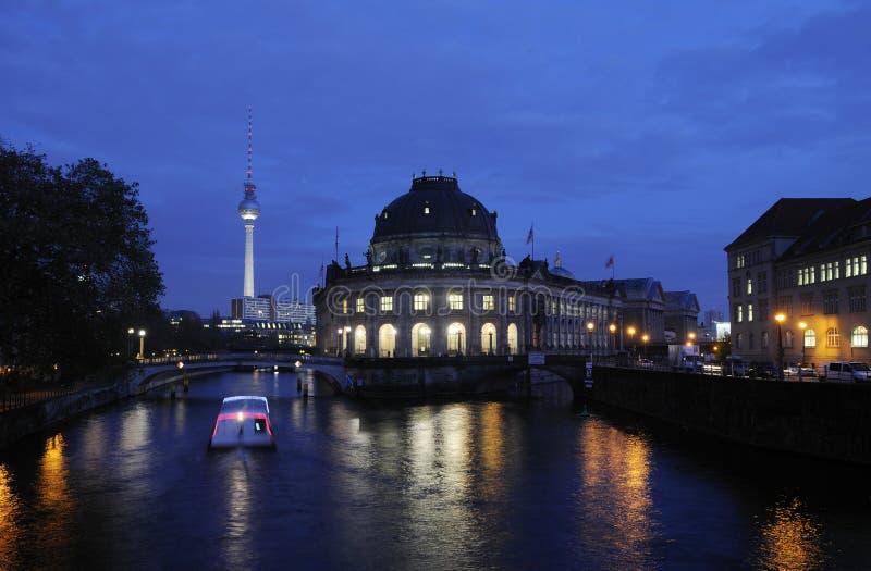 ноча berlin стоковое фото rf