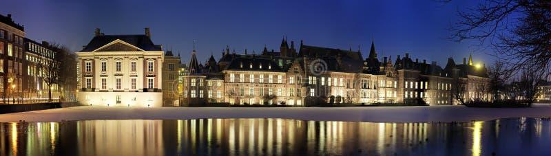 ноча binnenhof стоковое изображение rf