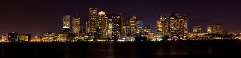 ноча boston панорамная стоковые изображения