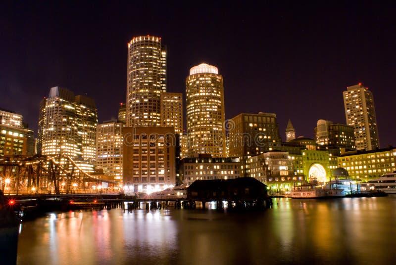 ноча boston стоковое изображение rf