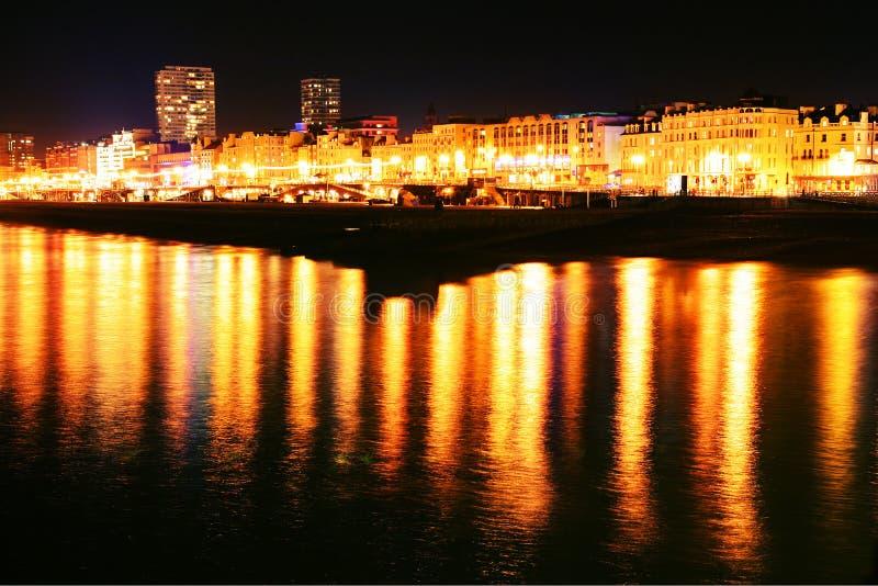 ноча brighton стоковая фотография