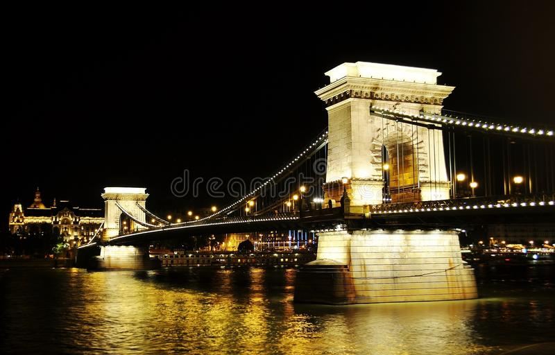 ноча budapest стоковые изображения