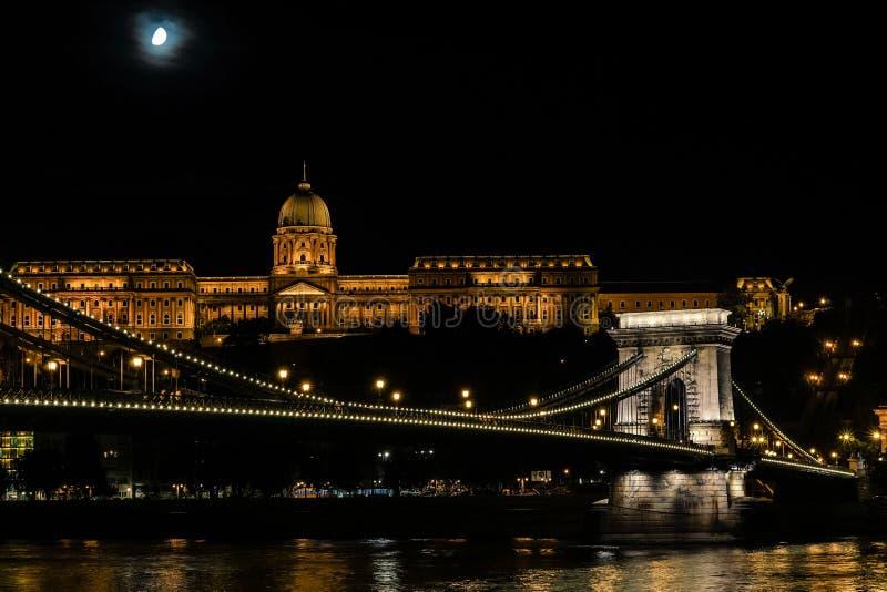 ноча budapest стоковая фотография rf