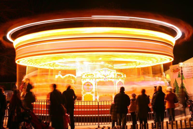 ноча carousel стоковое фото rf