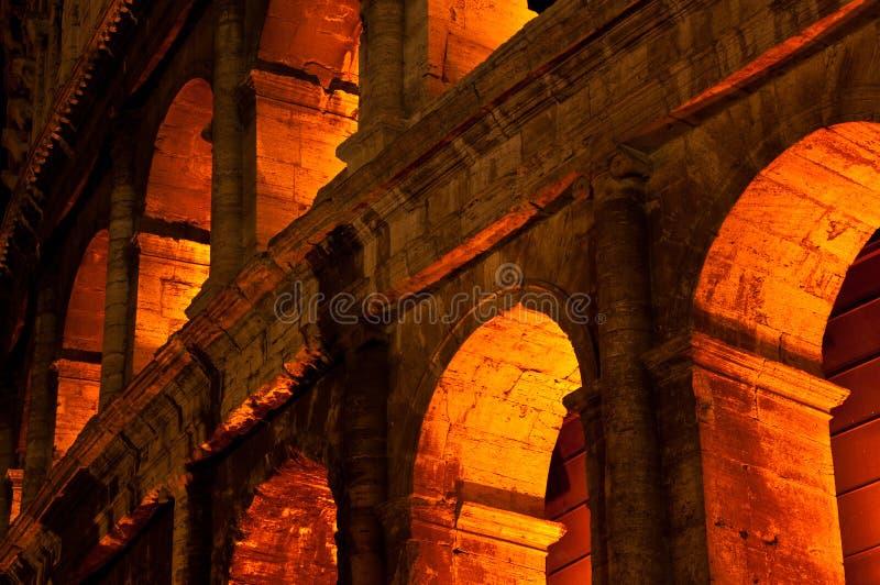 ноча colosseum стоковое изображение