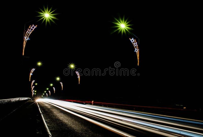 Ноча Daugavpils стоковая фотография