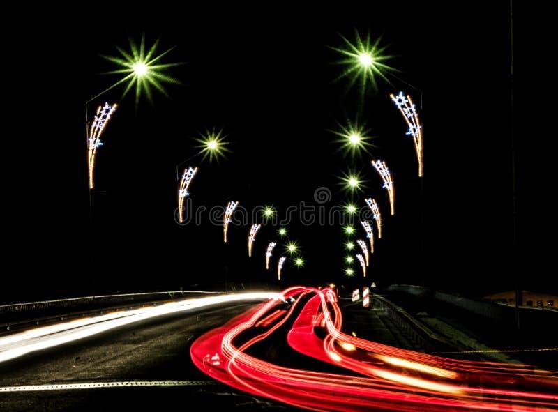 Ноча Daugavpils стоковая фотография rf