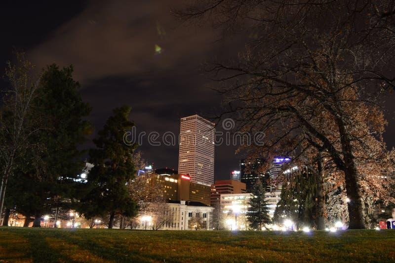 ноча denver стоковое изображение