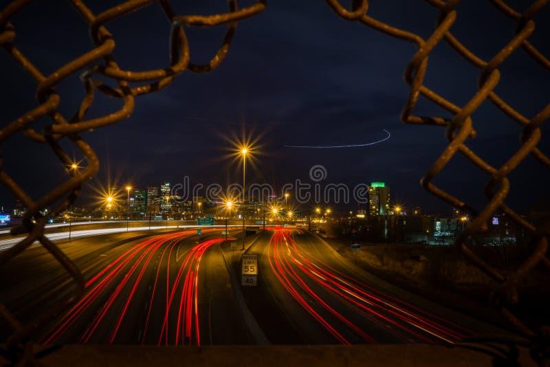 ноча denver стоковая фотография