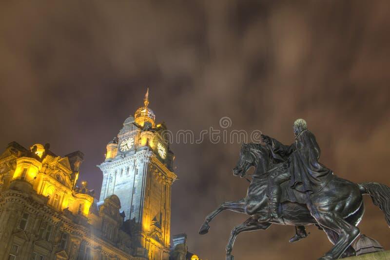 ноча edinburgh стоковая фотография