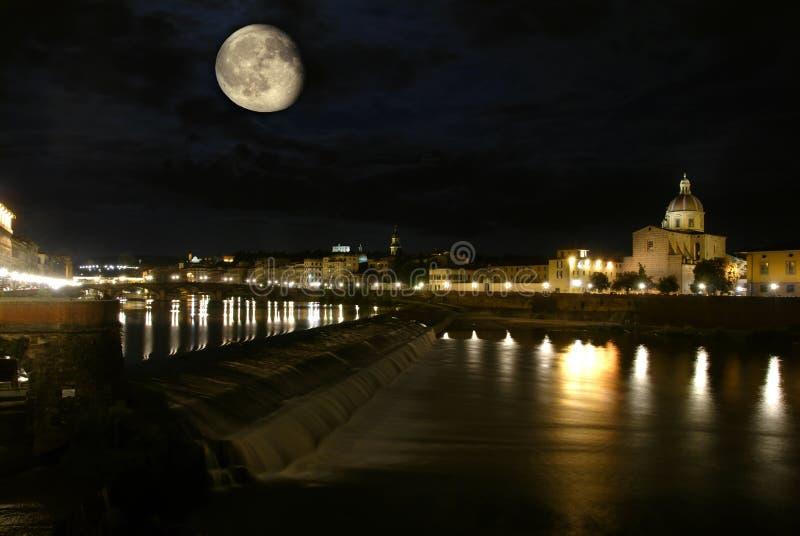 ноча florence собора стоковое изображение