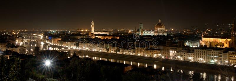 ноча florence стоковая фотография