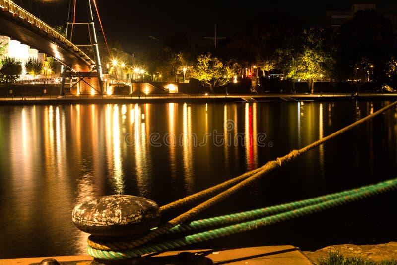 ноча frankfurt стоковое изображение