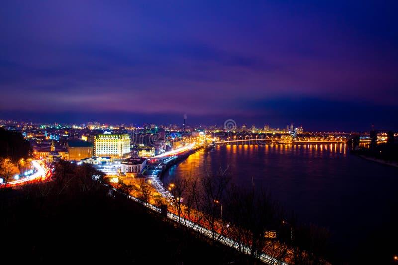 ноча kiev стоковое изображение rf