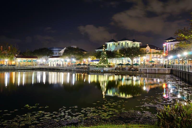 Ноча Kissimmee стоковое изображение rf