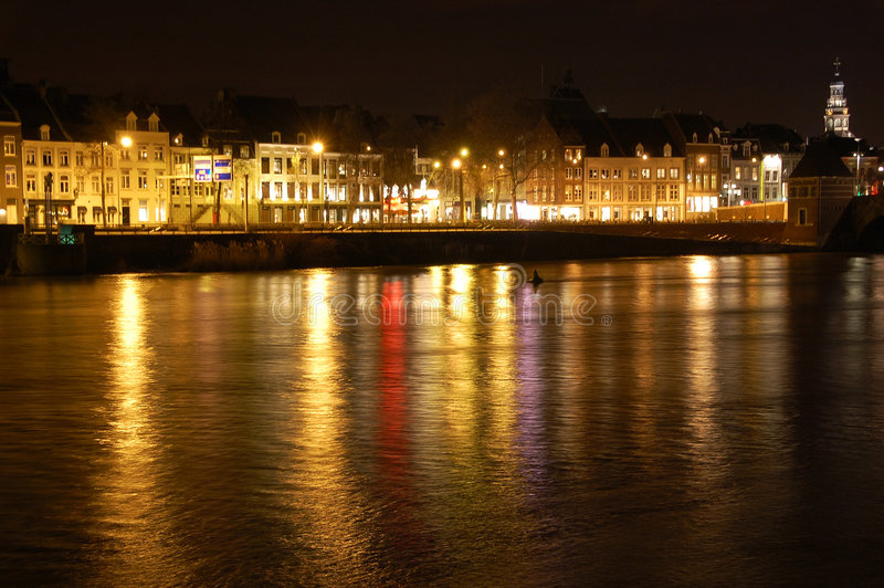 ноча maastricht стоковое фото