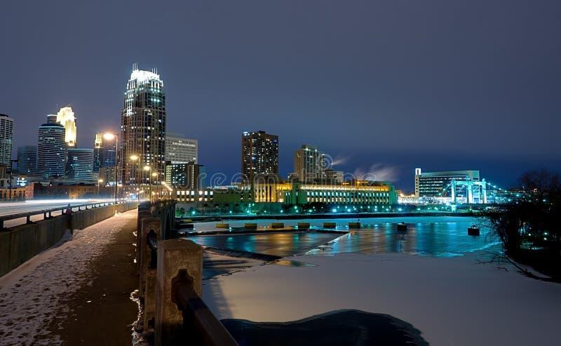 ноча minneapolis Минесоты стоковое изображение