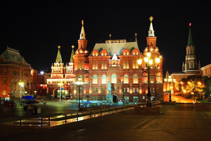 ноча moscow стоковая фотография rf