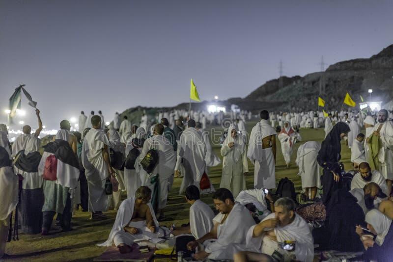 Ноча Muzdalifa стоковые изображения rf