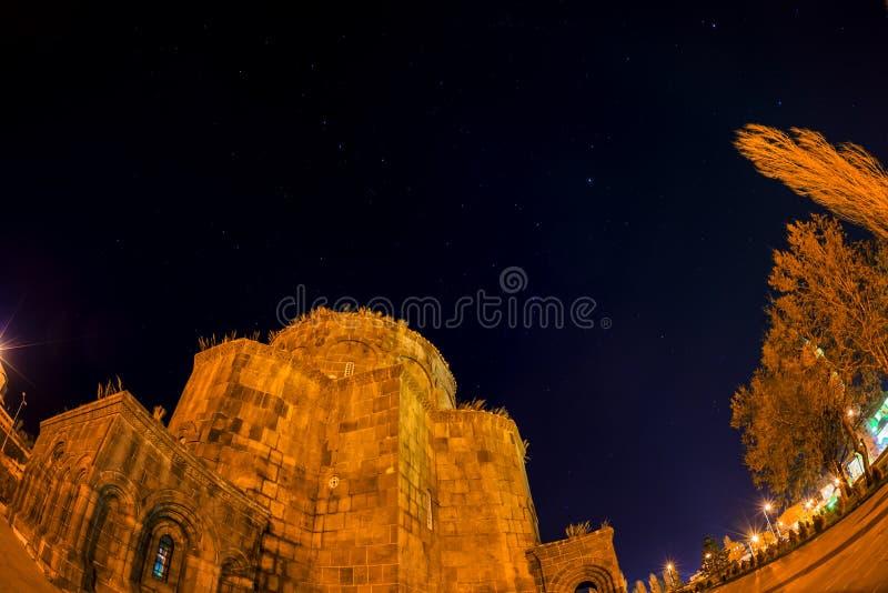 Ноча Panaroma в Kars стоковое фото rf