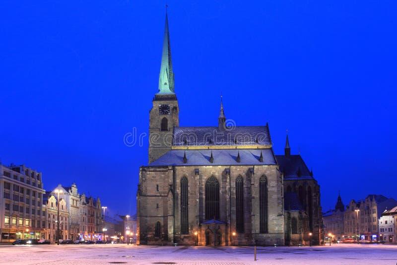 ноча pilsen зима стоковые фотографии rf