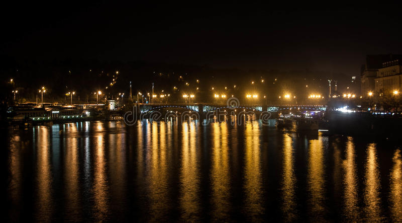 ноча prague стоковая фотография rf
