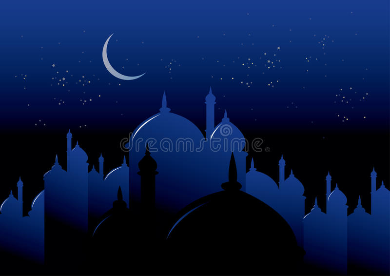 ноча ramadan иллюстрация штока