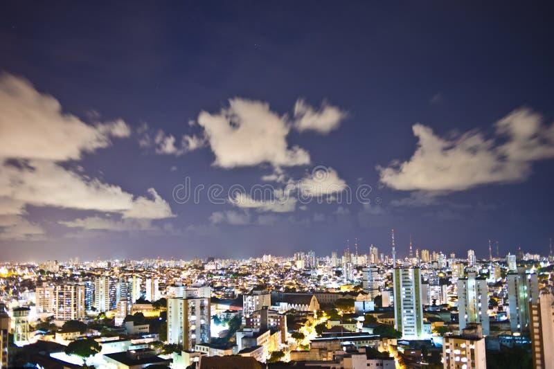 ноча salvador города стоковые фотографии rf