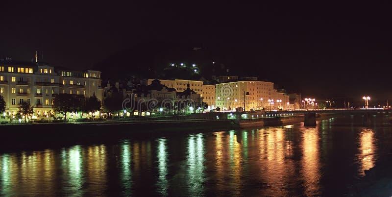 ноча Salzburg Стоковое Изображение